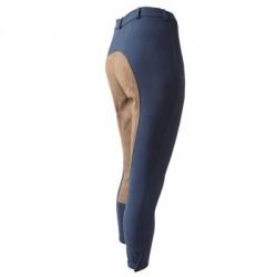 Pantalón Micro-Fibra Caballero, con Culera de Cuero