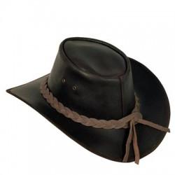 Sombrero Australiano Cuero Marrón