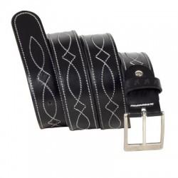 Cinturon Cuero Caballero con Adornos 41/35