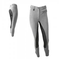 Pantalón Micro-Fibra Señora, con Culera de Cuero