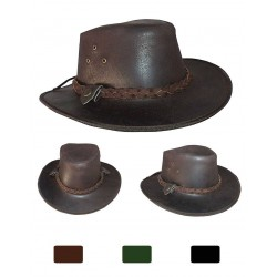 "Sombrero Australiano ""Swagman"" de cuero"