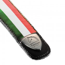 Tira de cuero bandera Italia