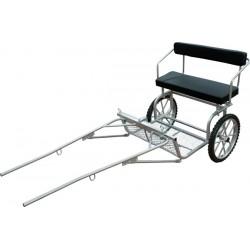 Carro para Pony Galvanizado con Freno 2'125 cm