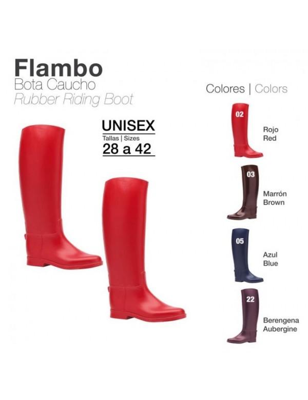 Botas caucho Flambo para montar en varios colores.