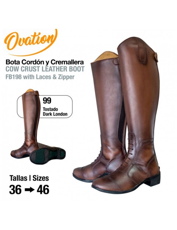 Botas de montar a caballo Ovation cordón y cremallera.