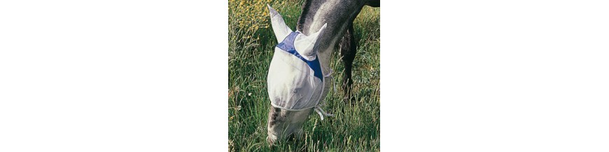 Mosqueros y máscaras antimoscas para caballos.